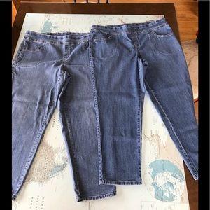 767dcae117c Terra Sky Women s Size 1X blue jeans. EUC